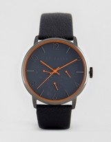 Ted Baker James Chronograph Leather Watch In Gray