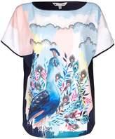 Yumi Peacock Motif Top