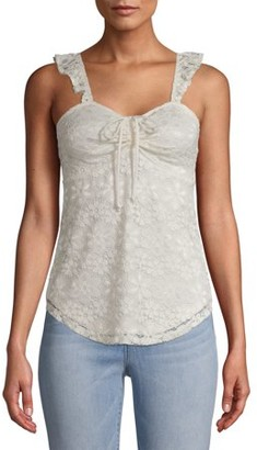 No Boundaries Juniors Lace Tank