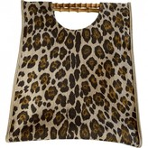 Charlotte Olympia Brown Cotton Handbags