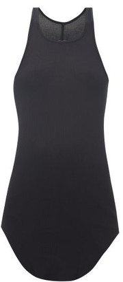 Rick Owens Racerback Ribbed-knit Tank Top - Womens - Black