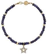 Dower & Hall Cherish 9ct Gold Pave Diamond Open Star Sapphire Bead Bracelet