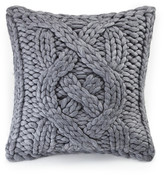 "UGG Oversized Knit Wool Blend Grey Pillow - 20"" x 20"""