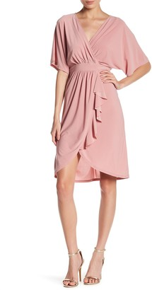 Just For Wraps Ruffle Drape Dress