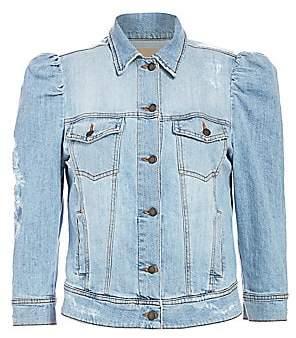 RetrofÃate Women's Ada Puff-Sleeve Denim Jacket