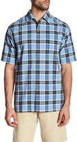 Tommy Bahama Pierre Plaid Classic Fit Camp Shirt
