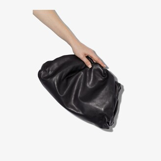 Bottega Veneta black The Pouch leather clutch bag