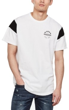 G Star Men's Blocked Sleeve Logo T-Shirt, Created for Macy's