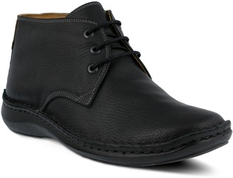 Spring Step Men's Lace-Up Leather Chukka Boots- Mathias