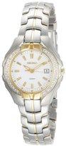 Seiko Women's SXDB70 Two-Tone White Dial 20 Diamonds Watch