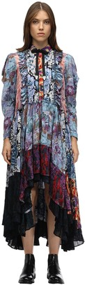 Coach Printed Viscose Chiffon Patchwork Dress