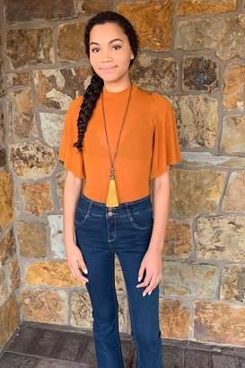 d.RA Clothing Kaye Flutter Sleeve Bodysuit