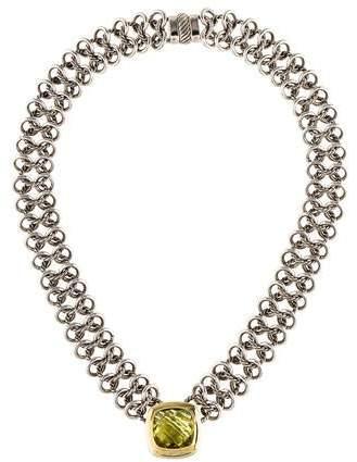 David Yurman Quartz Albion Chainmail Pendant Necklace