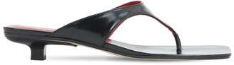 BY FAR 30mm Jack Brushed Leather Thong Sandals