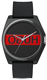 HUGO #Play Black & Red Watch, 40mm