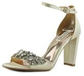 Badgley Mischka Barby Women Open Toe Canvas Ivory Sandals.