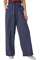 Sugar Lips Sugarlips Women's HIGH Waisted Striped Paper Bag Pants