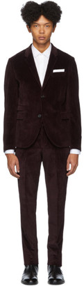 Neil Barrett Burgundy Corduroy Suit