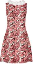 Sandro Frilled Collar Floral Dress, Pink, 3