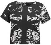 ELOQUII ABSTRACT Print Tshirt black/white