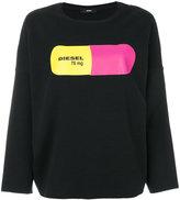 Diesel printed drop-shoulder sweatshirt - women - Cotton/Polyester/Spandex/Elastane - XXS