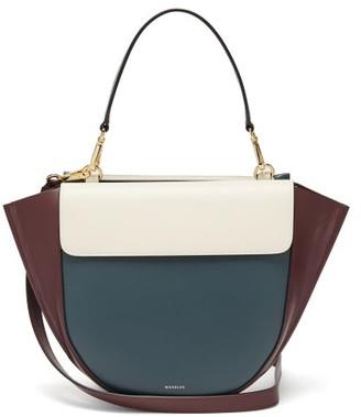 Wandler Hortensia Medium Leather Shoulder Bag - Womens - Blue Multi