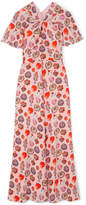 Temperley London Elixir Printed Crepe Maxi Dress - Baby pink