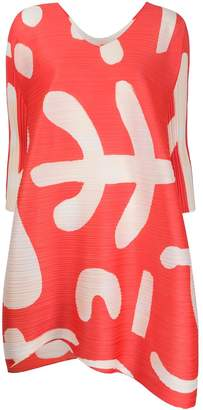 Pleats Please Issey Miyake abstract-print pleated dress