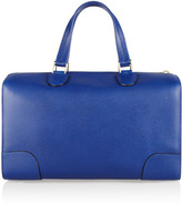 Valextra Boston Large textured-leather tote