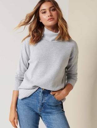 Forever New Madison Roll-Neck Jumper - Iced Grey - l
