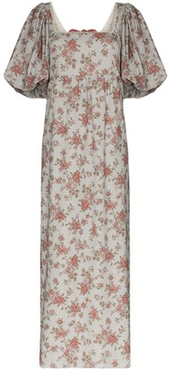 Masterpeace Floral Print Maxi Dress