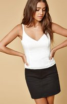 Honey Punch Solid Satin Cami Top