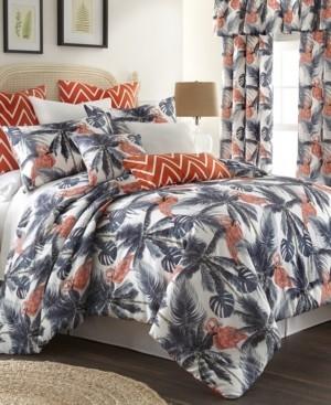 Colcha Linens Flamingo Palms Comforter Set-King Bedding