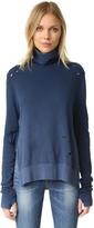 Pam & Gela Turtleneck Side Slit Sweatshirt