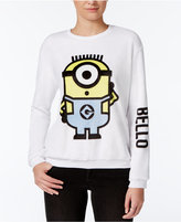Hybrid Juniors' Despicable Me Bello Graphic Fuzzy Sweatshirt