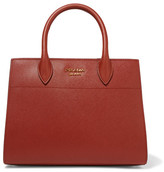 Prada Bibliothèque Textured-leather Tote - Brick