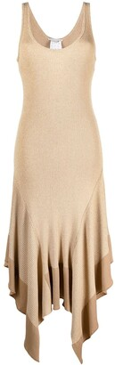 Stella McCartney Rib-Knit Handkerchief-Hem Dress