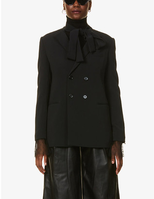 RED Valentino Padded-shoulder stretch-woven blazer
