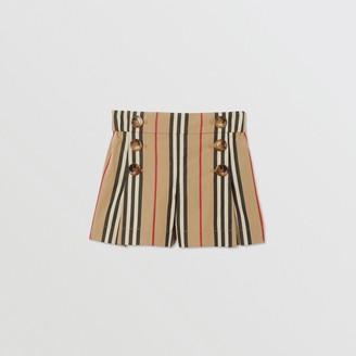 Burberry Childrens Icon Stripe Cotton Sailor Shorts