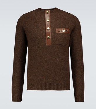 Gucci Henley knitted sweater