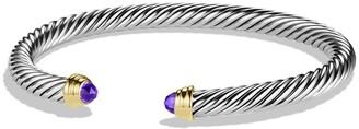 David Yurman Cable Classics Bracelet with Semiprecious Stones & 14K Gold, 5mm