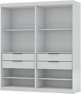 Manhattan Comfort Set Of 2 Mulberry Open 2-Sectional Closets