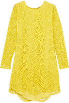 ADAM by Adam Lippes Corded Lace Mini Dress - Chartreuse