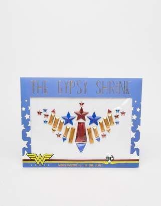 The Gypsy Shrine x Warner Brothers Halloween Wonder Woman Body All in One Jewel-Multi