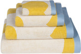 Orla Kiely Spot Flower Domino Towel - Yellow - Bath Towel