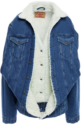 Y/Project Layered Faux Shearling-lined Denim Jacket