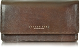 The Bridge Passpartout Donna Dark Brown Leather Women's Large Wallet