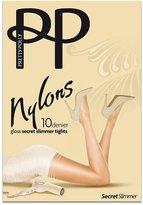 Pretty Polly Nylons Gloss Secret Slimmer Pantyhose, S/M