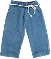 Mimisol Stretch Cotton Denim Cropped Pants