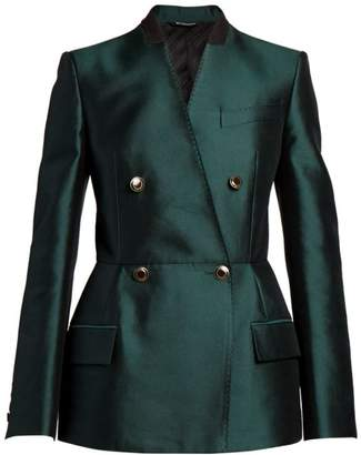 Givenchy Double-Breasted Wool & Silk Peplum Jacket